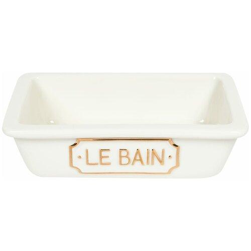 Мыльница Le Bain Blanc керамика цвет белый жидкость сливки chanel le blanc spf30 20ml