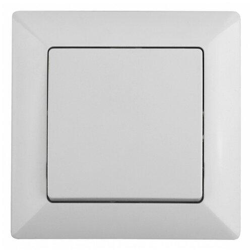 Intro 4-101-01 Intro Выключатель, 10А-250В, СУ, Solo, белый (10/200/2400)