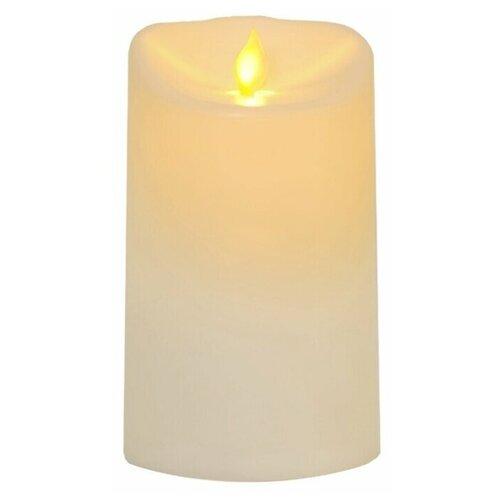 свеча светодиодная пластиковая с эффектом мерцающего пламени высота 8 5 см цвет бежевый 063 88 Свеча светодиодная пластиковая TWINKLE с эффектом живого пламени, высота - 15 см, цвет - бежевый, 063-76