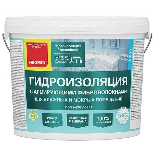 Гидроизоляция с армирующими микроволокнами - 12 кг. NEOMID