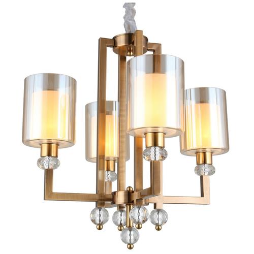 Потолочный светильник Omnilux Maranello - OML-80003-04, E27, 160 Вт, кол-во ламп: 4 шт., цвет арматуры: золотой, цвет плафона: золотой