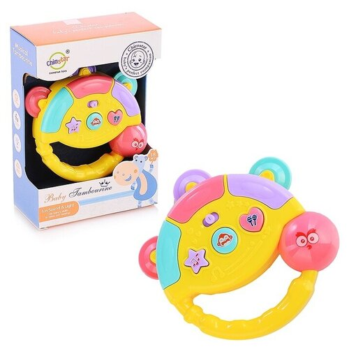 Купить Бубен музыкальны(4 варианта звучания), в коробке, Oubaoloon, Развивающие игрушки