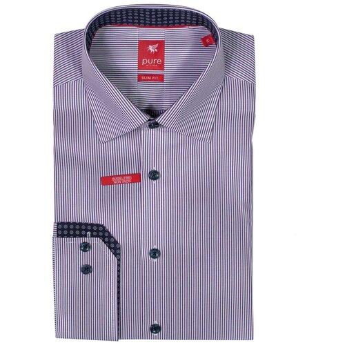 Рубашка pure размер S фиолетовый/белый