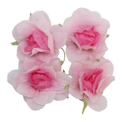 Фото - MH1-249 Набор декоративных цветов D=5,5*2,5см, 4шт, Астра (F07 бело-розовый) mh1 t010 набор декоративных цветов d 2 2см 24шт астра e19 коричневый