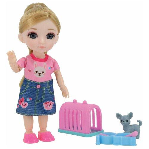 Кукла Малышка Лили с собачкой и переноской Funky toys FT72009