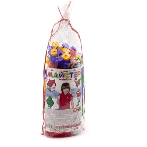Конструктор детский блочный разноцветный из 168 элементов MAXIMUS Мастер / конструктор для мальчиков / развивающие игрушки / конструкторы для девочек / конструкторы для мальчиков / конструктор для девочек / детский конструктор