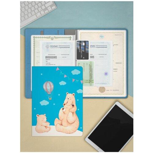 Фото - Flexpocket / Папка для семейных документов / Семейная папка / Органайзер для документов, формат А4 голубой папка для документов rhino 08 brown винтаж натуральная кожа
