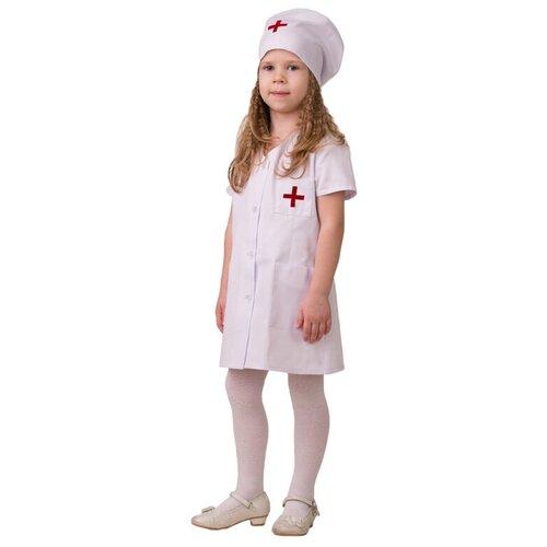 Купить Костюм Батик Медсестра 1 (5706), белый, размер 134, Карнавальные костюмы