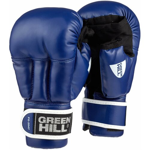 Любительские перчатки Green hill PG-2047 для рукопашного боя синий XL 8 oz