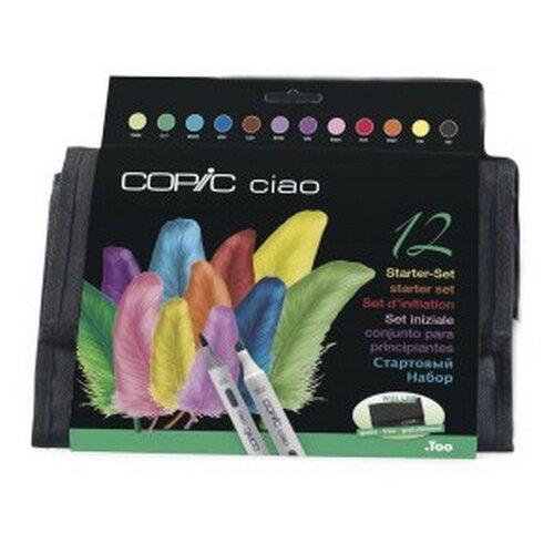 Купить COPIC Набор маркеров Ciao стартовый 12 цветов в пенале, Фломастеры и маркеры