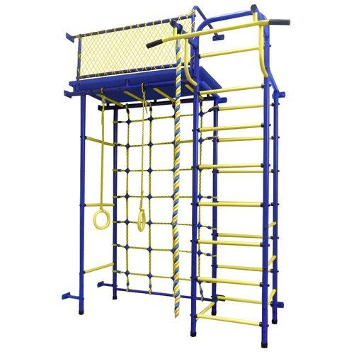 Купить Спортивно-игровой комплекс Пионер 10СМ, синий/желтый, Игровые и спортивные комплексы и горки