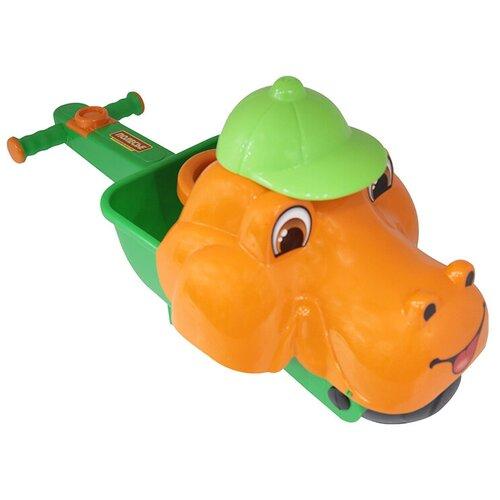 Тележка Полесье Малыш Дин 36278, оранжевый/зеленый