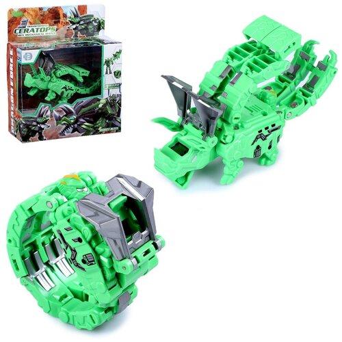 Купить Робот - трансформер Трицератопс , трансформируется в часы и динозавра 5208005, Сима-ленд, Роботы и трансформеры
