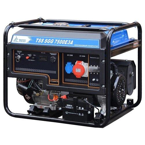 Бензиновый генератор ТСС SGG 7500Е3A (7500 Вт) инверторный бензиновый генератор тсс ggw 5 0 200ed r 22957 сварочный 98кг бензин 5квт 220 12в