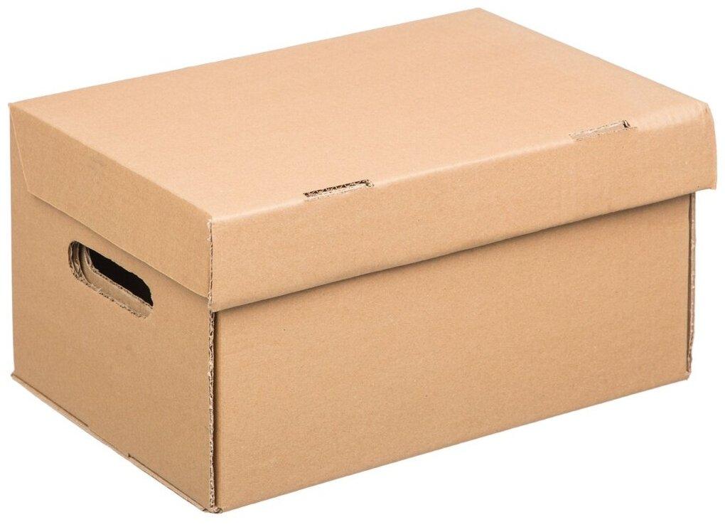 Короб архивный Комус делопроизводство, А4, 325*235*180 мм — купить по выгодной цене на Яндекс.Маркете