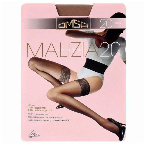 Чулки Omsa Malizia, 20 den, размер 4-L, sierra (коричневый) чулки omsa malizia 40 den размер 2 s sierra коричневый
