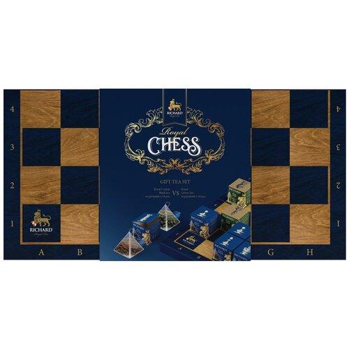 Чай Richard Royal chess ассорти в пирамидках подарочный набор, 32 шт. чай richard royal advent calendar ассорти в пирамидках подарочный набор 25 шт