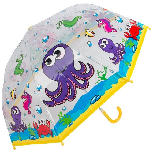 Зонт Mary Poppins прозрачный/голубой