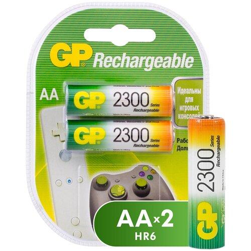 Фото - Аккумулятор Ni-Mh 2300 мА·ч GP Rechargeable 2300 Series AA, 2 шт. аккумулятор ni mh 950 ма·ч gp rechargeable 1000 series aaa 6 шт