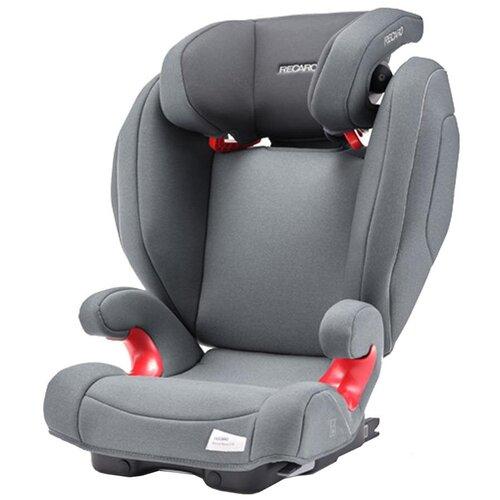 Автокресло группа 2/3 (15-36 кг) Recaro Monza Nova 2 SeatFix, Prime Silent Grey автокресло группа 2 3 15 36 кг recaro monza nova 2 seatfix xenon blue