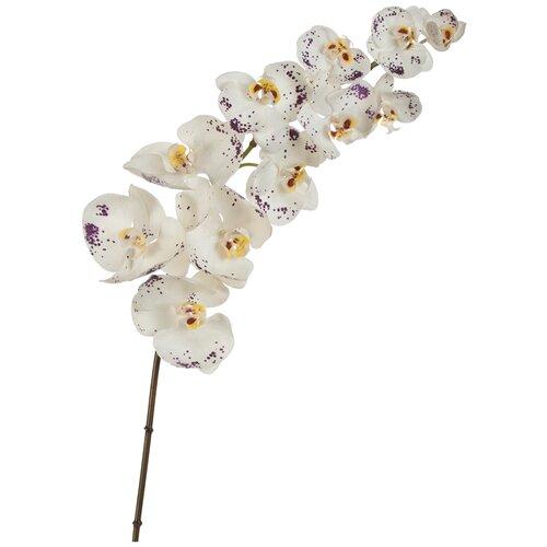 Искусственный цветок Орхидея Фаленопсис белая с фиолетыми крапинами 100 см pablo de gerard darel белая блузка с рельефной отделкой
