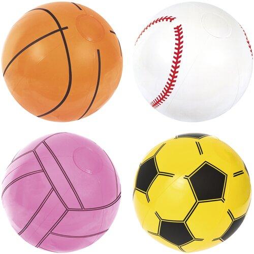 Мяч пляжный 41 см, 2+, по видам спорта, Bestway, арт. 31004 надувной мяч пляжный поп арт 91 см bestway арт 31044