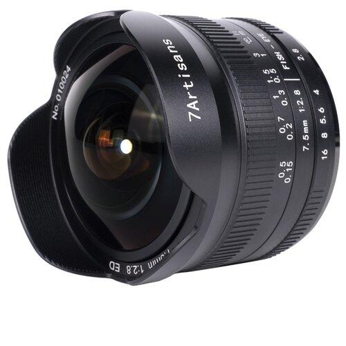 Фото - Объектив 7artisans 7.5mm f/2.8 Canon EF-M mark II черный объектив 7artisans 18mm f6 3 canon eos m mount