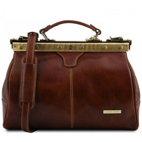 Кожаный саквояж Tuscany Leather Michelangelo TL10038 Коричневый