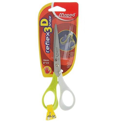 Купить Maped ножницы Reflex 3D Shape для левшей 16см зеленый/белый, Ножницы