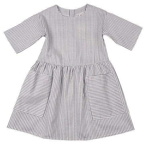 Платье Mini Maxi размер 104, белый/серый платье modis размер 104 белый