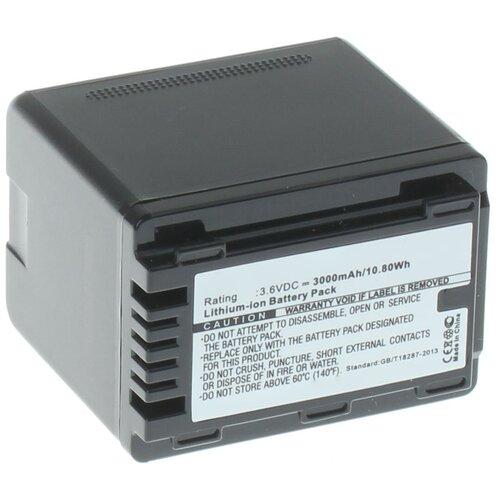 Аккумулятор iBatt iB-B1-F456 3000mAh для Panasonic VW-VBT190, VW-VBT380, VW-VBY100, VW-VBT380E-K,