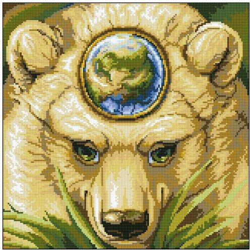 Алмазная мозаика Алмазная Фея 0164. Медведица мать-земля