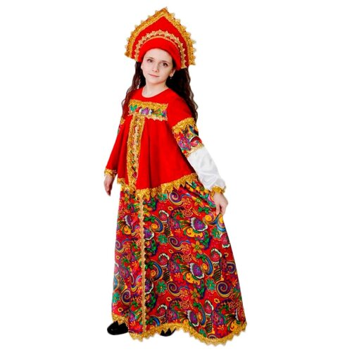 Фото - Костюм Батик Боярыня (2041), красный, размер 146 костюм батик леший 6074 коричневый размер 146