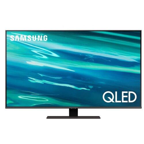 Фото - Телевизор QLED Samsung QE50Q80AAU 50 (2021), черный телевизор qled samsung the frame qe65ls03aau 64 5 2021 черный