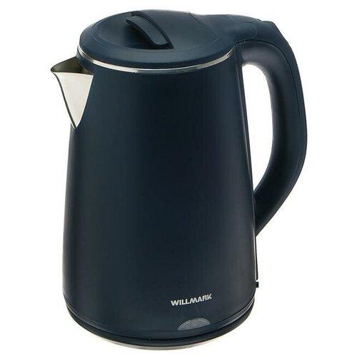 Чайник электрический WILLMARK WEK-2002PS пластик колба металл 2 л 2000 Вт синий 5241992