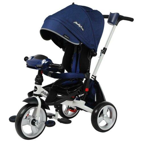 Трехколесный велосипед Moby Kids New Leader 360° 12x10 Eva Car, синий