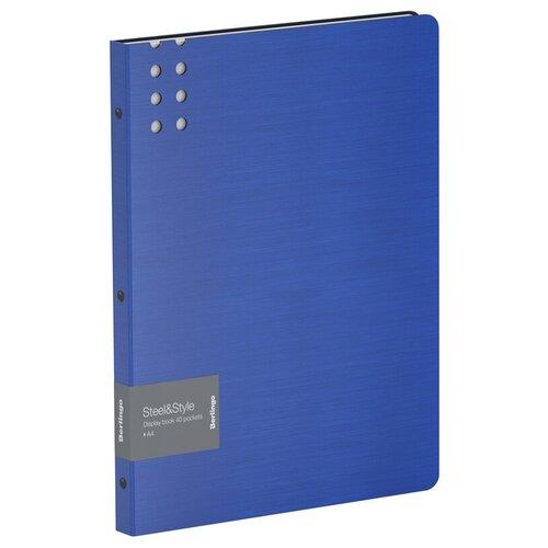 Фото - Berlingo Папка с 40 вкладышами Steel&Style A4, пластик синий berlingo папка со 100 вкладышами standard a4 пластик синий