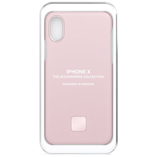 Фото - Чехол-накладка Happy Plugs 9165 + защитная пленка для Apple iPhone X/Xs blush клип кейс happy plugs для apple iphone xs black marble черный мрамор