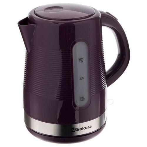 Чайник электрический Sakura SA-2343P пластик 1.7 л 1850-2200 Вт фиолетовый 5350115