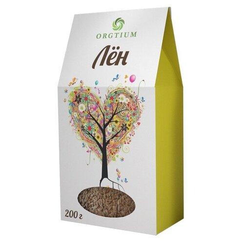 Семена льна Оргтиум экологические коричневые, 200 г микс семян льна оргтиум 200 г