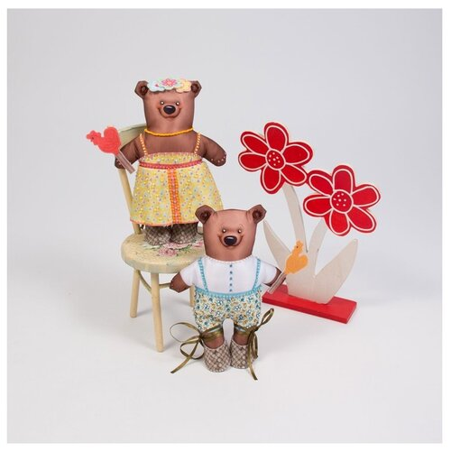 Набор для шитья и вышивания «Мишутка и Машутка», Матренин Посад