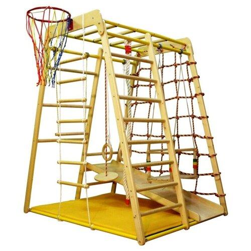 Купить Спортивно-игровой комплекс Вертикаль Веселый малыш WOOD, бежевый, Игровые и спортивные комплексы и горки