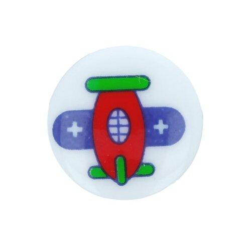 Купить Пуговицы детские Gamma 12 мм, 36 шт, №273, самолет (AY 9968)