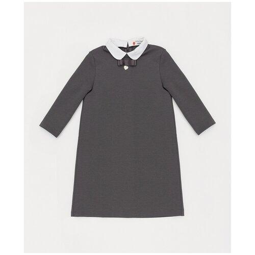 Купить Платье Button Blue размер 134, серый, Платья и сарафаны