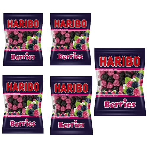 Haribo Ягоды жевательный мармелад, 80 г - 5штук