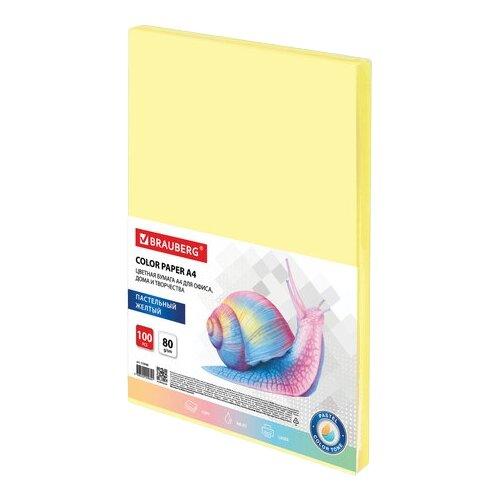 Фото - Бумага BRAUBERG A4 COLOR 112446 80 г/м² 100 лист., желтый демосистема brauberg solid a4 236719