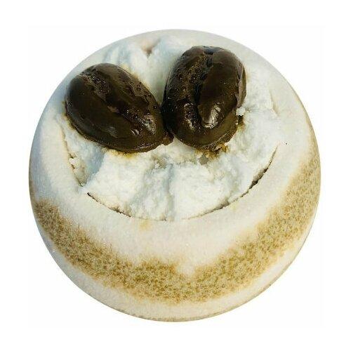 Купить Бомбочка для ванн, бурлящий шар с мылом ручной работы. Шарик Кофейные зерна, гейзер для ванн 130гр, Bomb Master