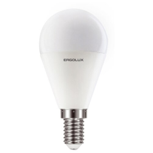 Фото - Лампочка Ergolux E14 11W 220V 6500K 1070Lm LED-G45-11W-E14-6K 13629 светодиодная лампа ergolux led g45 11w e27 6k упаковка 10 шт