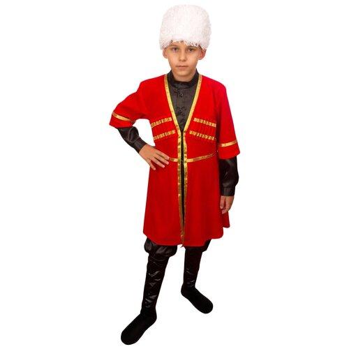 Костюм Маскарад у Алисы Армянский мальчик, красный, размер 32(128) костюм маскарад у алисы восточный принц коричневый размер 32 128