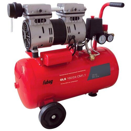 Фото - Компрессор безмасляный Fubag OLS 160/24 CM 1.1, 24 л, 0.8 кВт компрессор безмасляный fubag paint master kit 6 л 1 1 квт